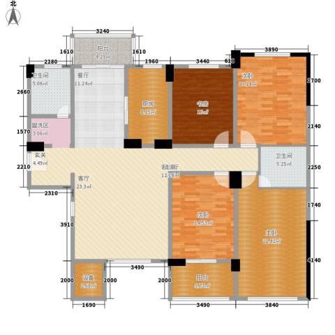 南郡明珠4室1厅2卫1厨170.00㎡户型图