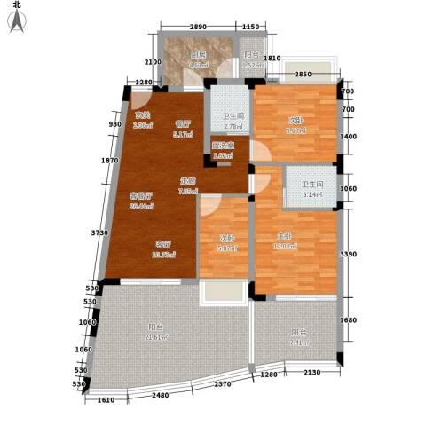 白金海岸3室1厅2卫1厨109.00㎡户型图