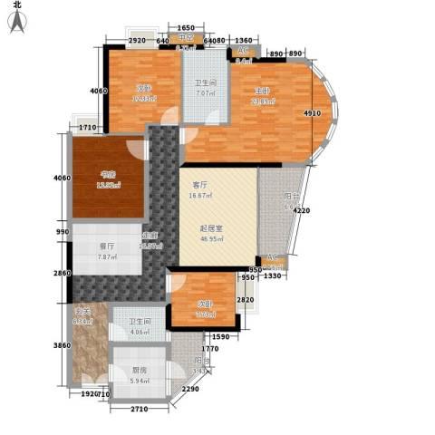 珠江帝景苑4室0厅2卫1厨149.00㎡户型图