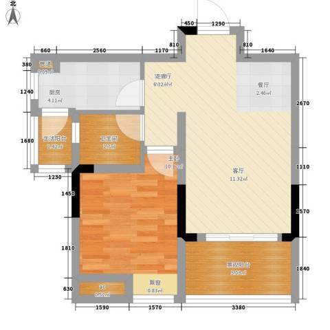 首创iHOME1室1厅1卫1厨48.00㎡户型图