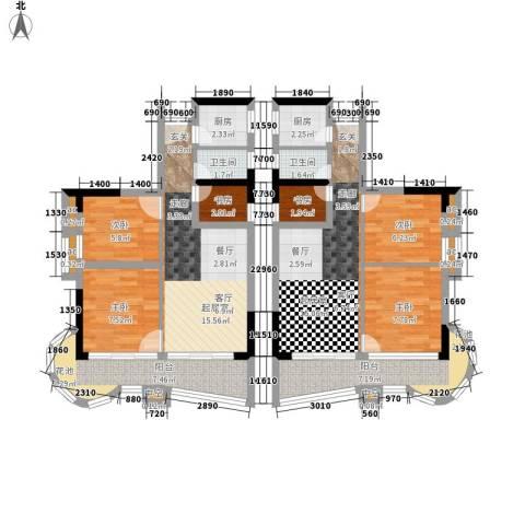 珠江帝景苑6室0厅2卫2厨130.00㎡户型图