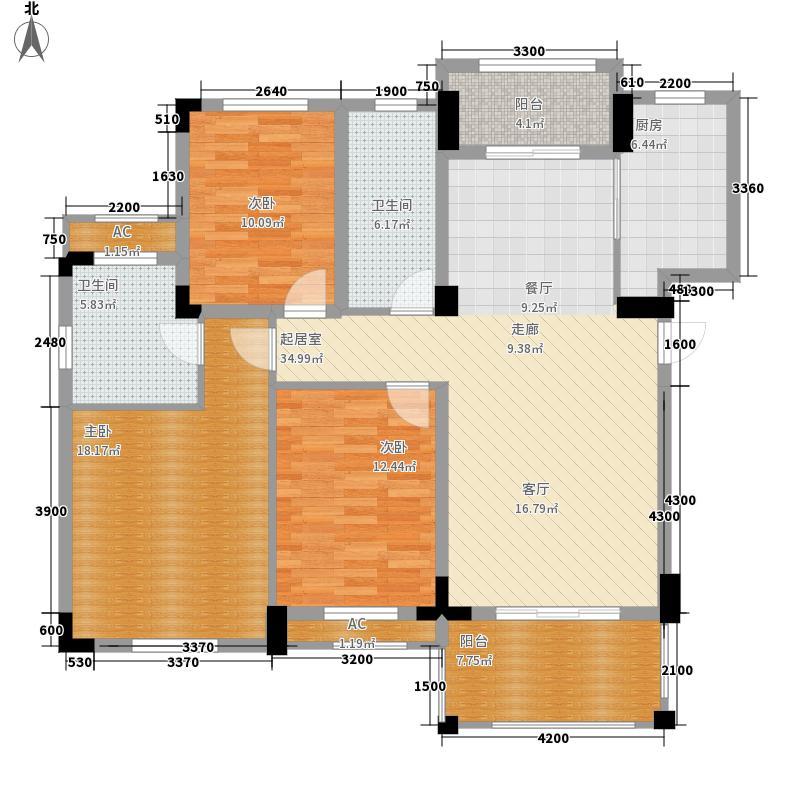 卧龙丽景湾125.00㎡乐山苑3F面积12500m户型