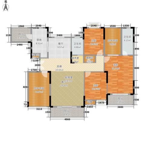 鑫远逸园3室0厅2卫1厨176.00㎡户型图