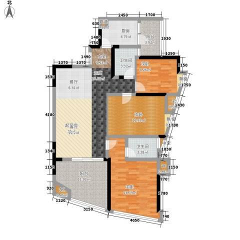 西江月3室0厅2卫1厨116.00㎡户型图