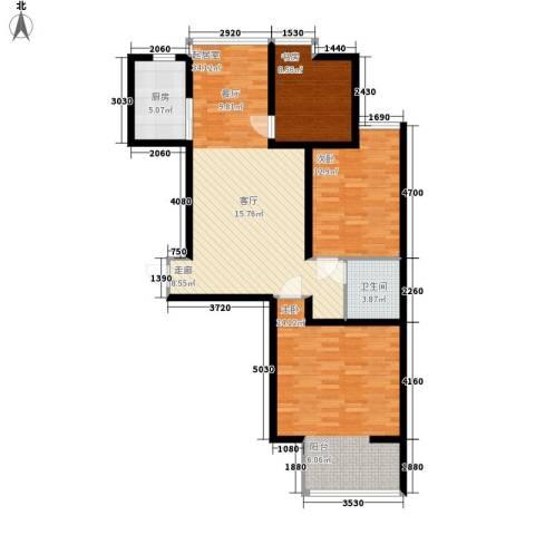 嘉实泊岸3室0厅1卫1厨100.00㎡户型图
