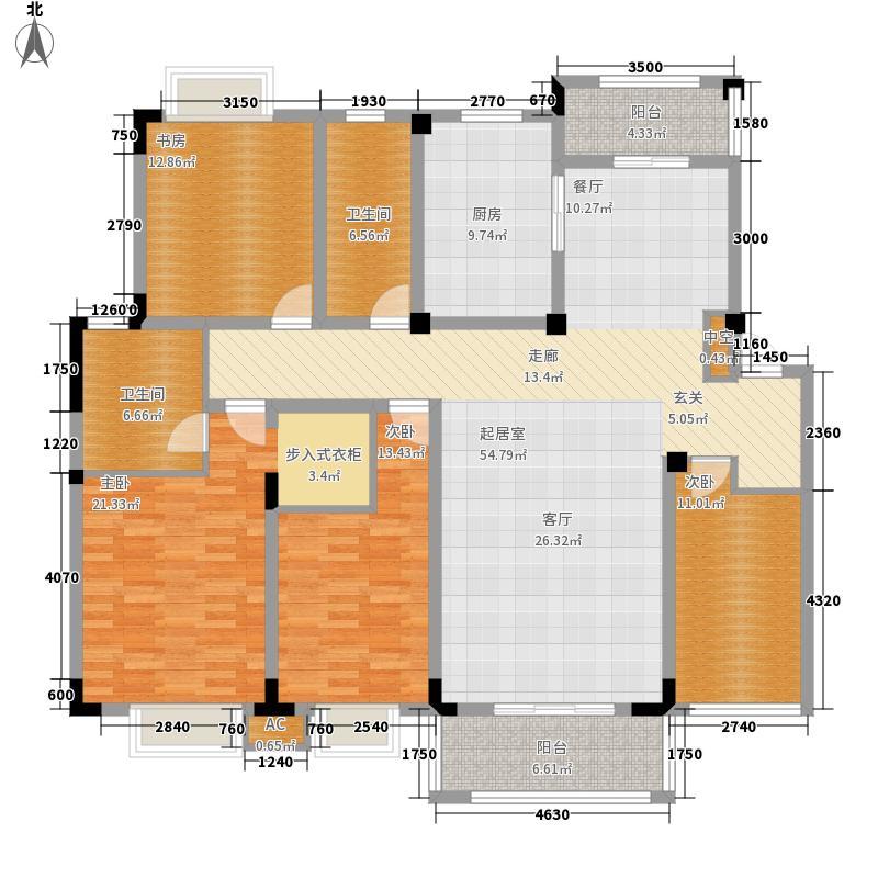 卧龙丽景湾168.73㎡4A2面积16873m户型