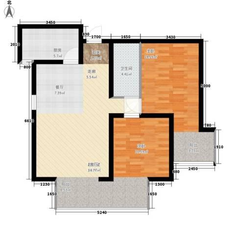嘉实泊岸1室0厅1卫1厨85.00㎡户型图