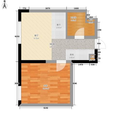 宝利国际广场云观公寓1室1厅1卫0厨60.00㎡户型图