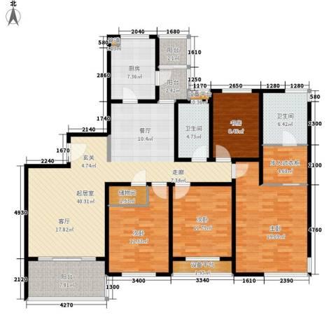 华恒家园4室0厅2卫1厨150.00㎡户型图