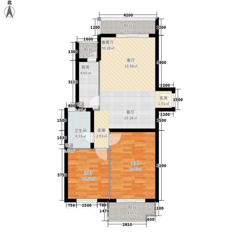 玺萌公馆106.16㎡三期14号楼B-1户型
