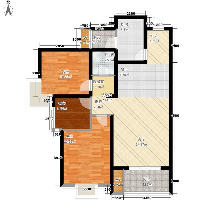 清渭公馆114.05㎡9、10#楼C户型