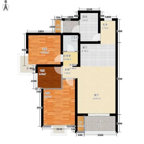 清渭公馆3室0厅1卫1厨114.00㎡户型图
