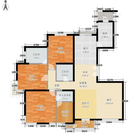 海逸长洲瀚波园3室0厅3卫1厨154.00㎡户型图