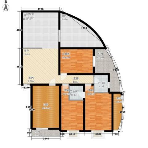 银晟花园4室0厅2卫1厨174.00㎡户型图