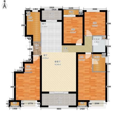 中海8号公馆4室1厅2卫1厨140.00㎡户型图