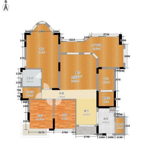 珠江御景湾3室0厅2卫1厨144.00㎡户型图