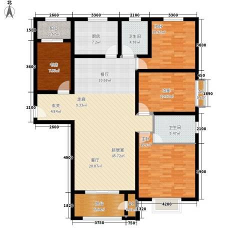 清渭公馆4室0厅2卫1厨162.00㎡户型图