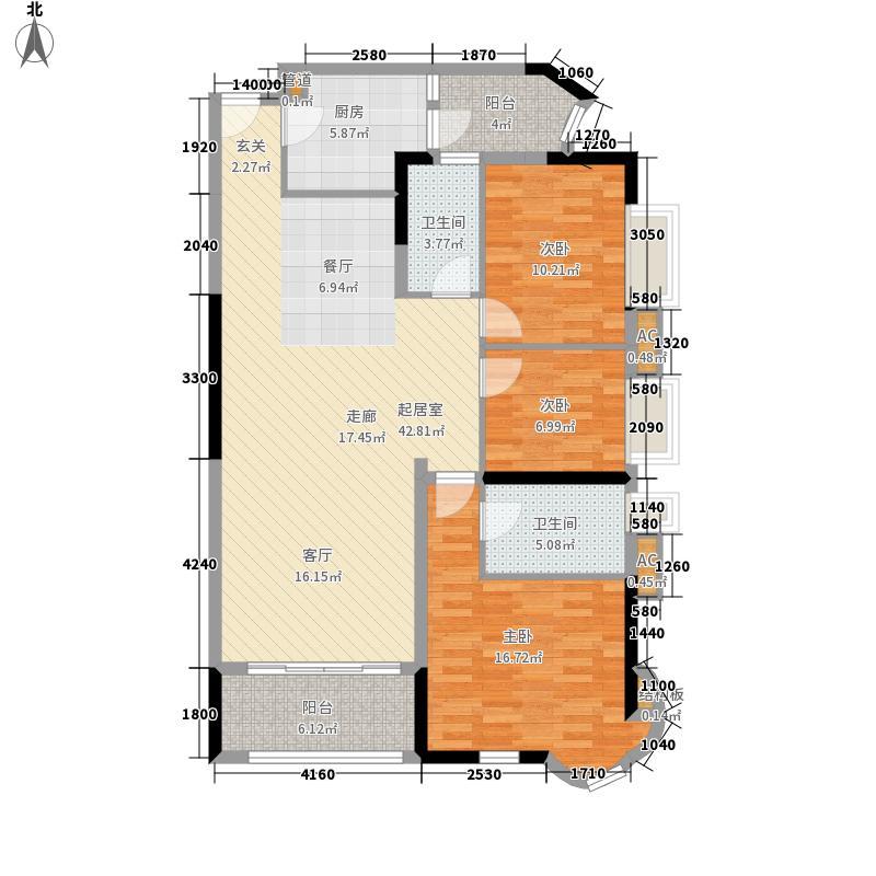 珠江御景湾124.00㎡G11座01单元面积12400m户型