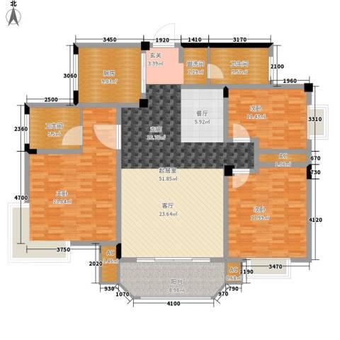 在水一方3室0厅2卫1厨155.00㎡户型图