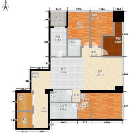 融创玖玺台4室0厅3卫1厨176.00㎡户型图