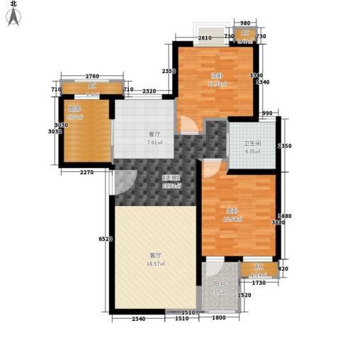 香巴圣地2室0厅1卫1厨106.00㎡户型图