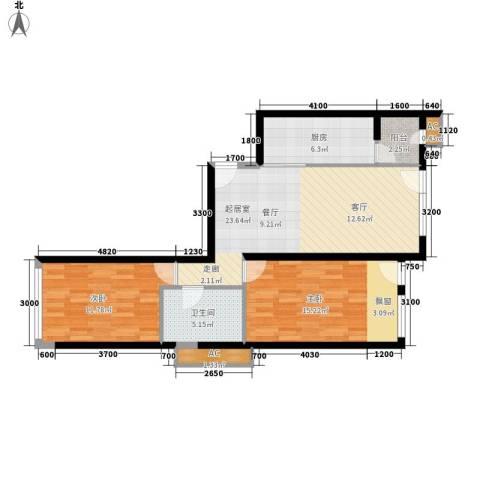 大西洋新城G区2室0厅1卫1厨94.00㎡户型图