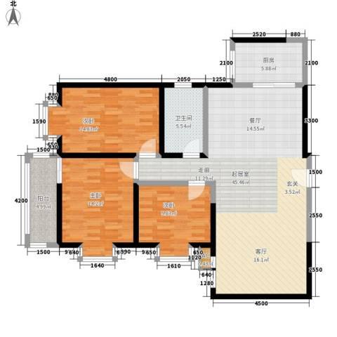 阳光嘉庭3室0厅1卫1厨122.00㎡户型图