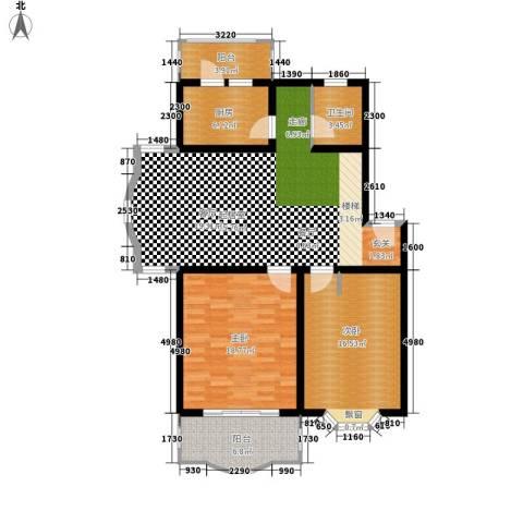 A9公馆2室0厅1卫1厨103.00㎡户型图