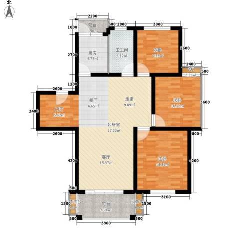 四季阳光3室0厅1卫1厨104.00㎡户型图