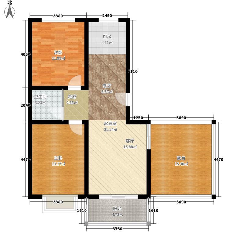 书香门邸91.60㎡R面积9160m户型