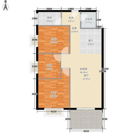 锦城四季3室0厅1卫1厨112.00㎡户型图