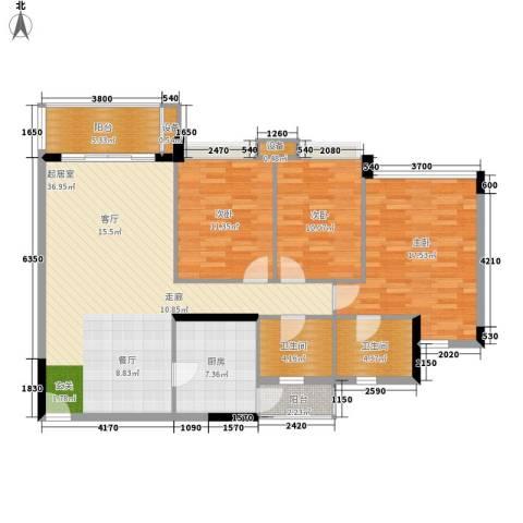 中海康城3室0厅2卫1厨110.00㎡户型图