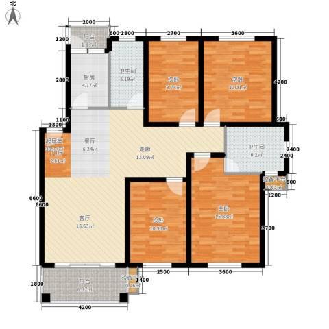 四季阳光4室0厅2卫1厨136.00㎡户型图