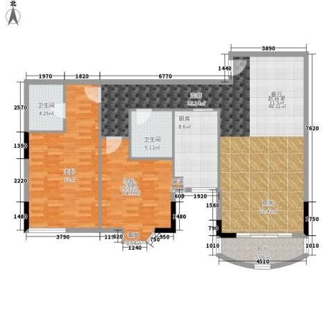 荔尚国际2室0厅2卫1厨119.00㎡户型图