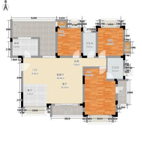 同景国际城恋山3室1厅2卫1厨162.00㎡户型图