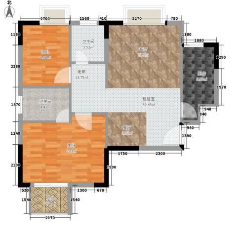 雨花五金机电市场居民楼2室0厅2卫1厨98.00㎡户型图