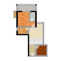鼎盛国际公寓67.00㎡面积6700m户型