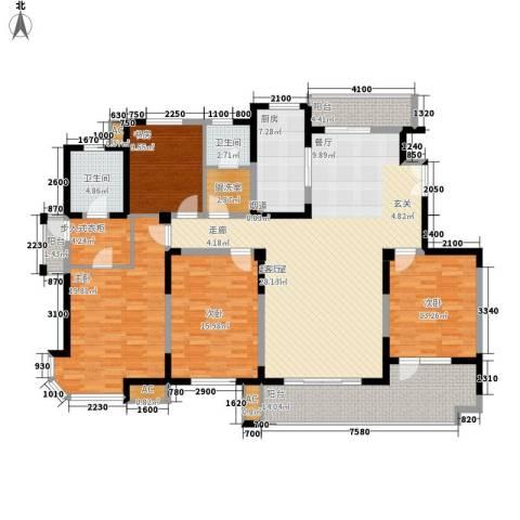 白沙社区4室0厅2卫1厨214.00㎡户型图