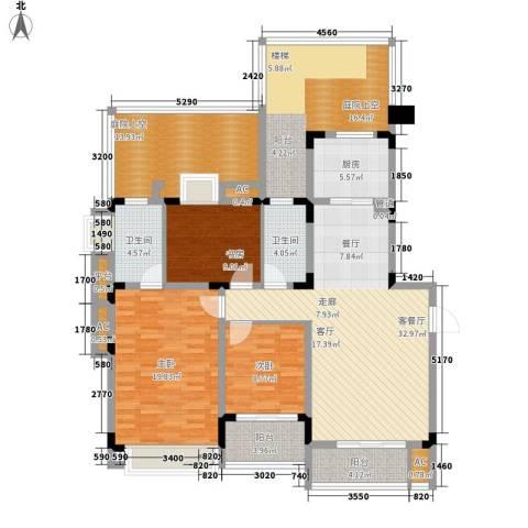 同景国际城恋山3室1厅2卫1厨125.42㎡户型图