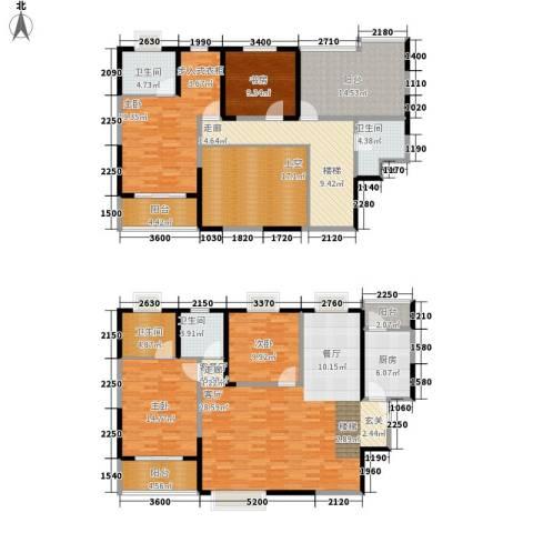 美都香域4室1厅4卫1厨197.00㎡户型图