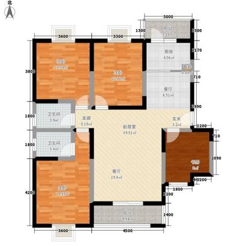 弘和美邻馆4室0厅2卫1厨139.00㎡户型图