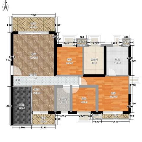 骆家坝小区3室0厅1卫2厨88.00㎡户型图
