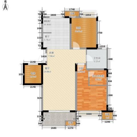 锦绣公园2室1厅1卫0厨87.00㎡户型图