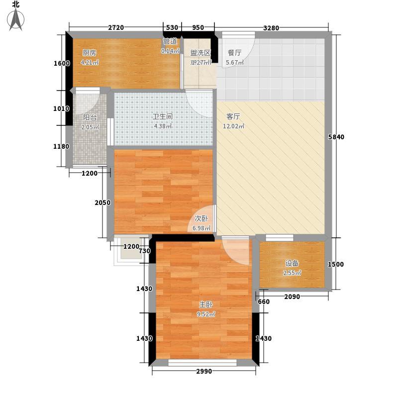 滨江公馆幸福ID58.24㎡17栋2-17面积5824m户型