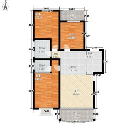 白沙社区3室0厅2卫1厨151.00㎡户型图