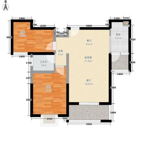 弘和美邻馆2室0厅1卫1厨88.00㎡户型图