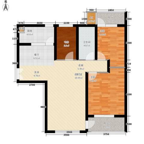 白沙社区3室0厅1卫1厨122.00㎡户型图