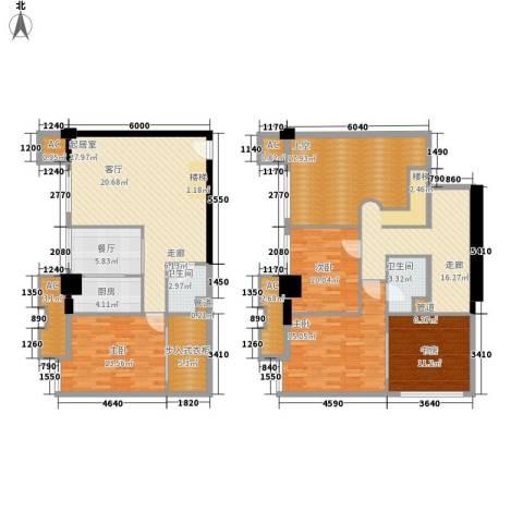 橙仕空间4室1厅2卫1厨141.69㎡户型图