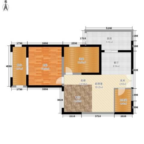 曲江澜山2室0厅1卫1厨95.00㎡户型图
