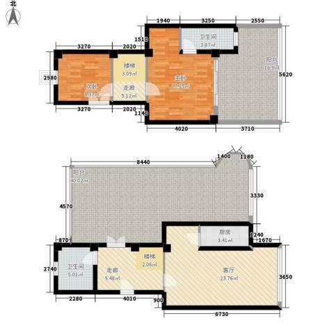 秋涛阁2室1厅2卫1厨150.00㎡户型图